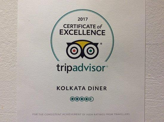 Kolkata Diner: Top Award...