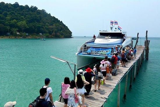 通过Boonsiri高速双体船和巴士到Koh Kood到芭堤雅