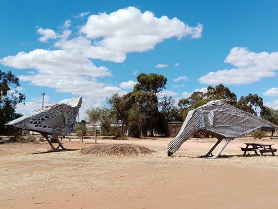 Patchewollock, Australia: Mallee Fowl art work