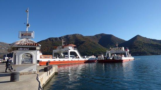 Kamenari, Montenegro: The Kotor Bay ferry on a sunny day!