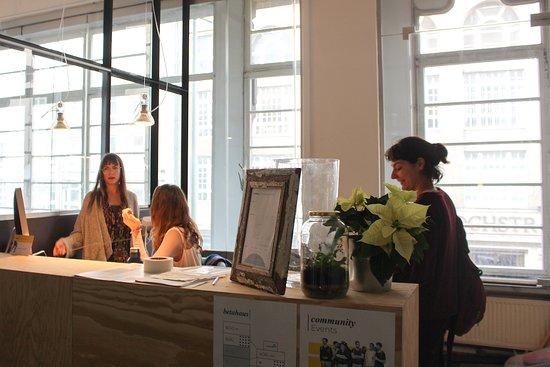 betahaus Front Desk at 1OG