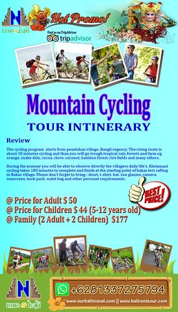 Info detail, please visit our site : https://www.nurbalitravel.com/2018/11/mountain-cycling-tour.html