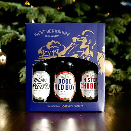 Traditional ale selection in a gift box.