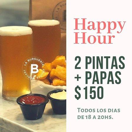 Happy Hour. TODOS LOS DIAS Extendimos una hora más nuestro Happy Hour. Ahora hasta las 21:00hs.