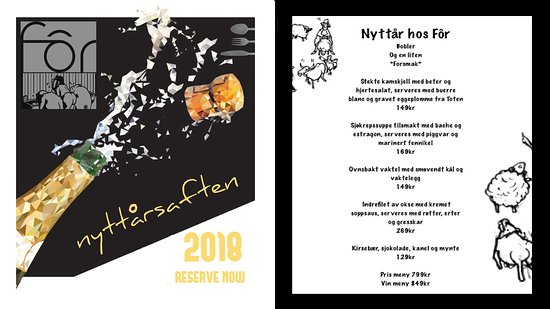 Ringebu Municipality, Norwegia: New Year's Eve Special Menu.