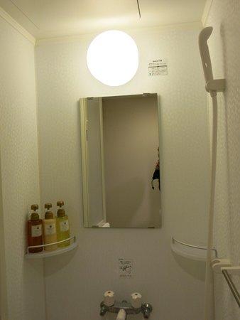 Dormy Inn Kurashiki: 部屋はシャワーのみ
