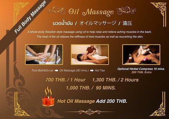 Lek Massage Bangkok - Lek Gold: Menu