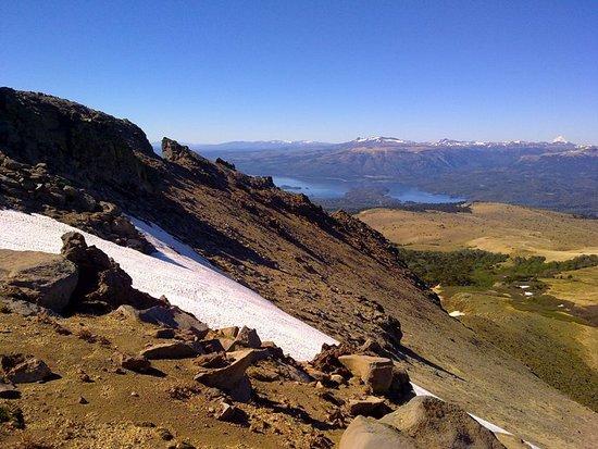 Subiendo el volcan Batea Mahuida