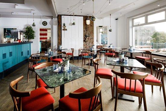 Main dining area at Jersey Crab Shack Gorey