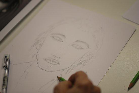 Un exemple d'une séance de cours de dessins