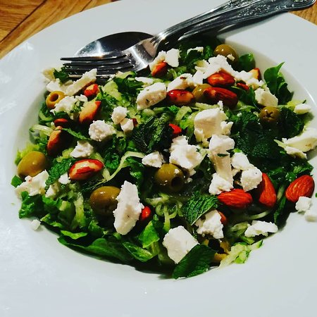 Sleaford, UK: Our herby feta salad to go with our Greek style lamb roast.