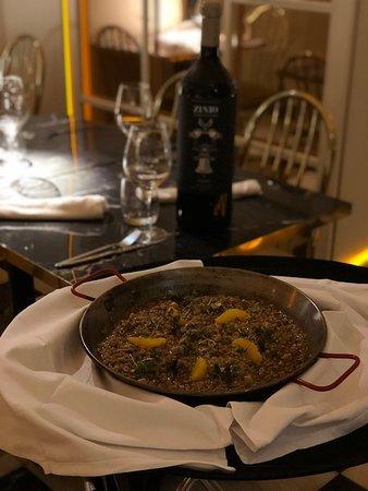 Restaurante Charlie Champagne: menu arroz para 2 pax maridado con zinio venidmia selecionada