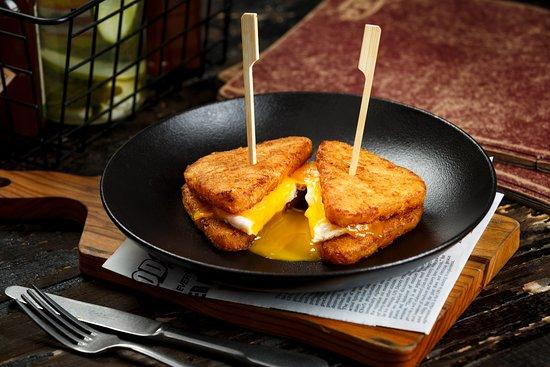 Blaze Burgers: Breakfast Hash Sandwich (Breakfast served from 8 am to 12 pm)