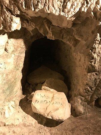 Beit Shearim: An original engraving of a name of a famous Rabbi's son