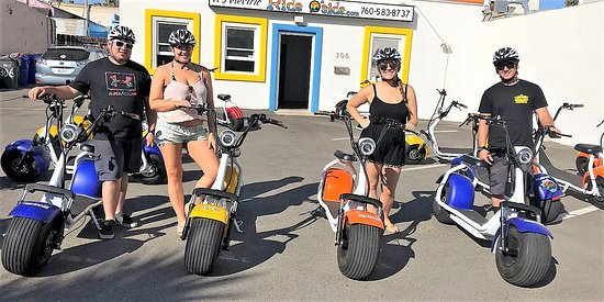 Locals having fun at Ride Oside
