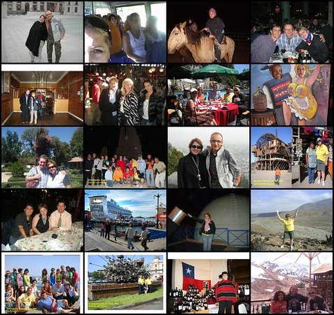 Travel Guide Chile: A collage of different travellers along the years of working in this wonderful world and business in Chile, I simply love my job!