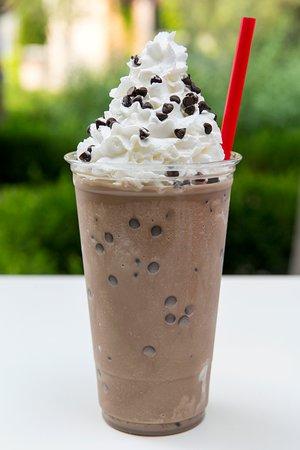 Chocolate Chocolate Chip Frozen Yogurt Milkshake.  Because we love you.