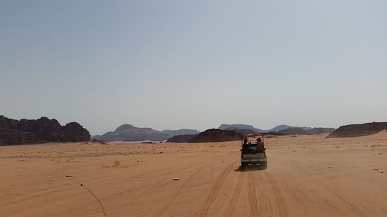 Full-Day Wadi Rum from Aqaba: the 4x4 in front