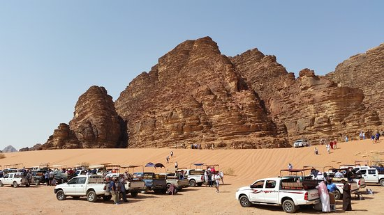 Full-Day Wadi Rum from Aqaba: first stop and you can go on a camel ride
