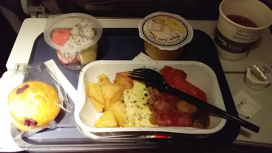 British Airways: Breakfast, delicious !!!