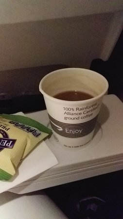 British Airways: No more coffee, tea is better.