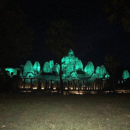 Bayon temple at night time
