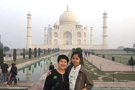 Samme dag Taj Mahal Agra Forttur med...