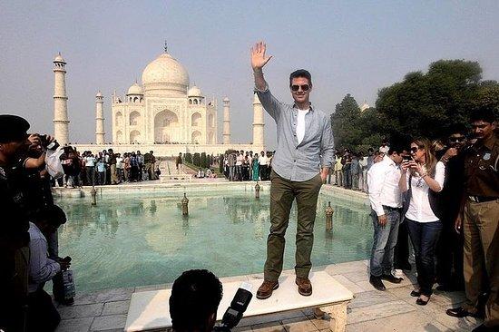 3 am Taj Mahal Soloppgangsturen starter...