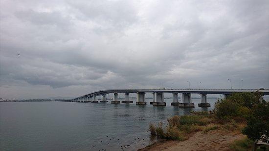 Lake Biwa Bridge: 琵琶湖大撟近觀
