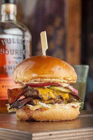 Skapto Bulleit Bourbon - a double of everything and a house-made Bulleit sauce. Love.