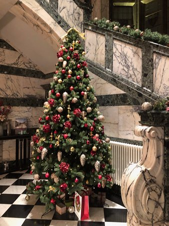 one of the many Christmas trees around the hotel