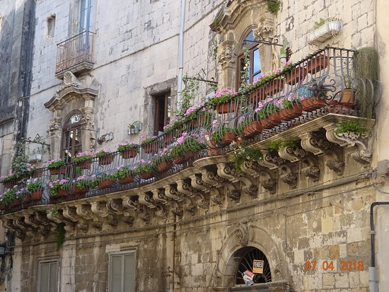 Syracuse, Italië: Unique balcony