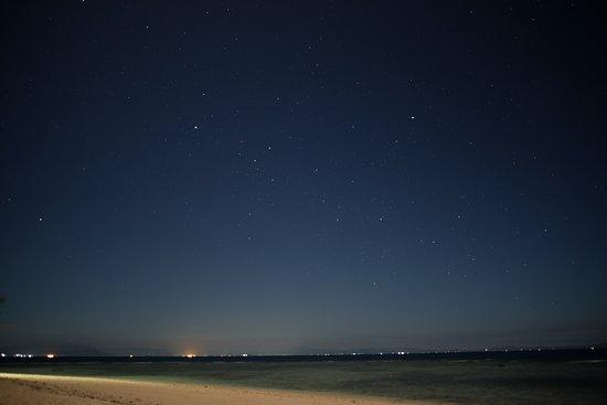 Beach stars at night