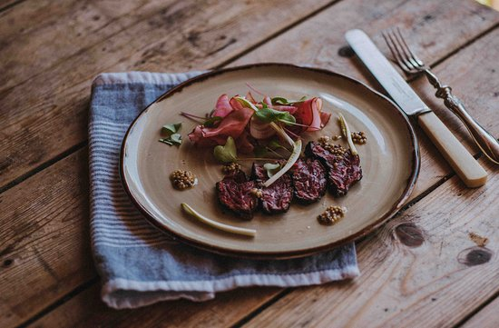 River Cottage Kitchen: Seared beef carpaccio and pickled beetroot.