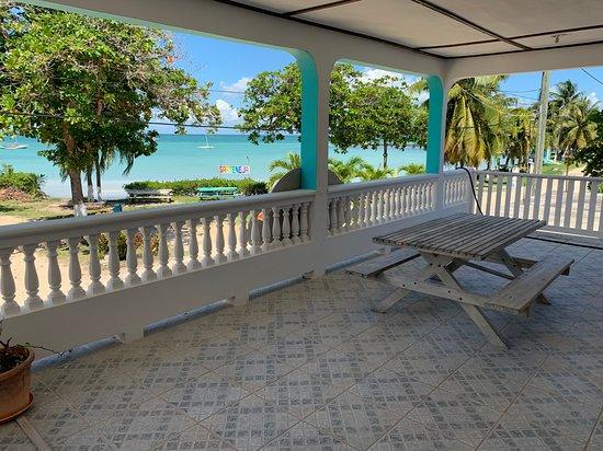 Sarteneja, Belize: View of the varanda..Panoramic View..