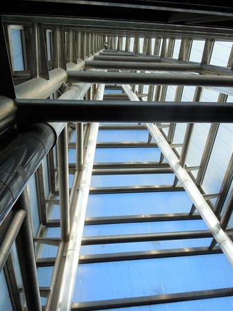 Vue de la structure intérieure de la pyramide