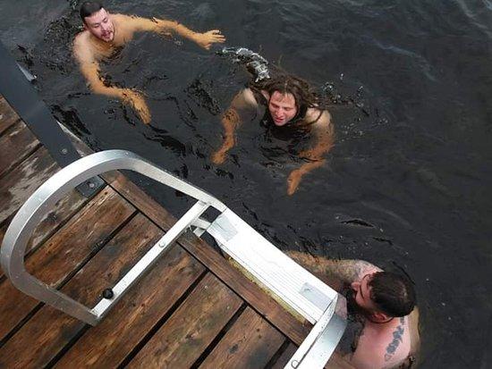 Koivurannan Saunalautta: The river that looks like coke coca