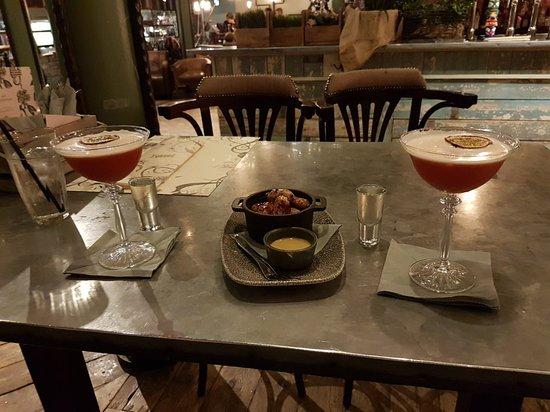 Pornstar martinis and mini sausages