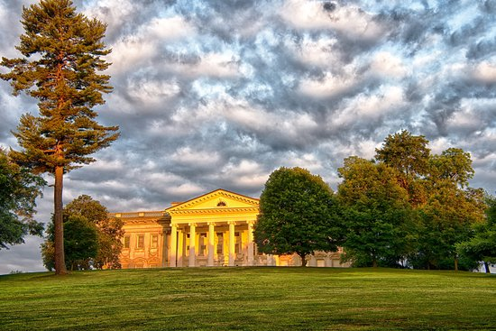Staatsburg, NY: The commanding east portico of the mansion designed by Stanford White.