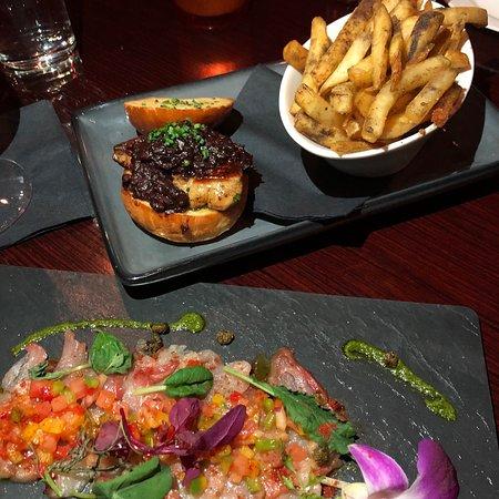 The London Bar: Foie Gras slider, truffle fries and hamachi crudo were horrible