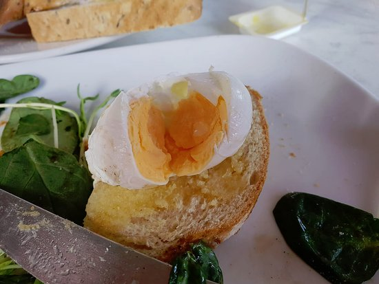 The Bean and Leaf Cafe: This is their take on a 'poached' egg