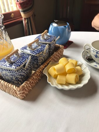 Delicious beautifully presented breakfast