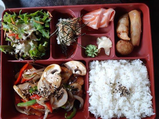 Salmon Teriyaki - Bento A