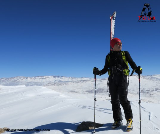 This is one of the many mountains of Iran that you can ski in. Iran has many 4000 mountains and the 5671m. Damavand. It can be a good destination for mountain skiers who want to experience different places.
