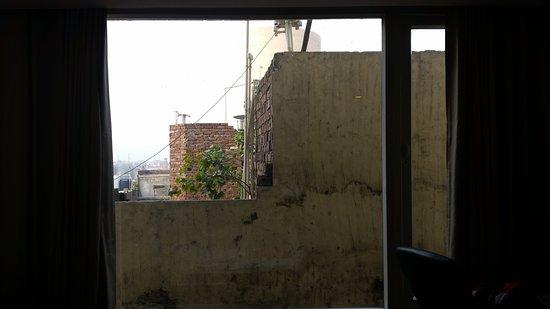 Hotel City Park Amritsar: Brick wall view from room