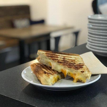 Triple cheese toastie