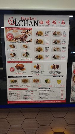 Menu - Hawker Chan Photo