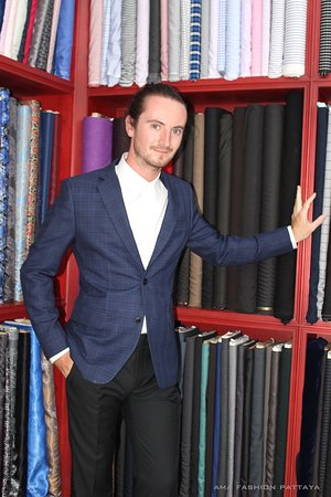 Custom tailored suit that feel good inside and out.