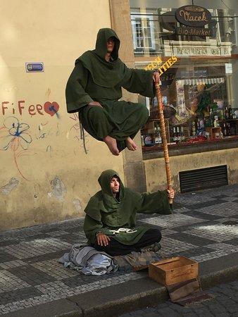 Prague 'street performers'