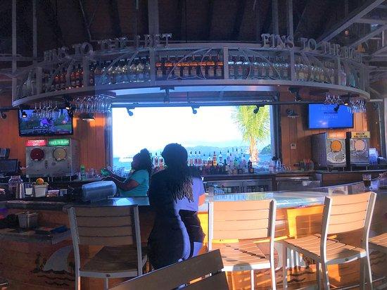 Looking at the bar